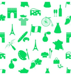 france country theme symbols and icons green vector image