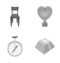 Furniture circus and other monochrome icon in vector
