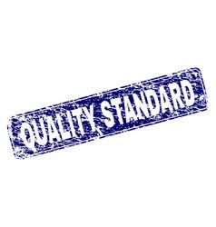 Grunge quality standard framed rounded rectangle vector