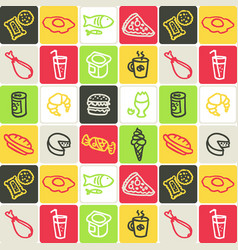 hand drawn icons set - food 2 vector image