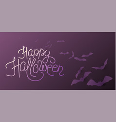 happy halloween background with flying bats vector image