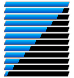 Horizontal progress loading bar templates vector