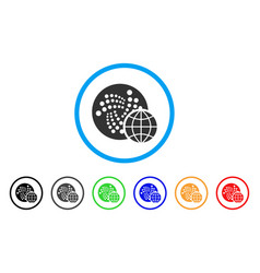 Iota global rounded icon vector