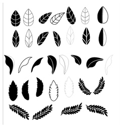 Leafs icons for pattern with white background vector