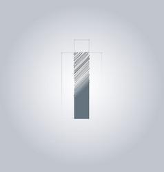 Letter i logo alphabet logotype architectural vector