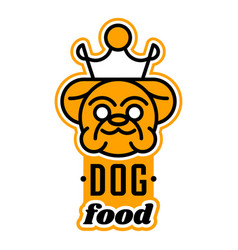 Logo on theme food for dogs english vector