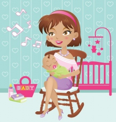Lullaby baby vector