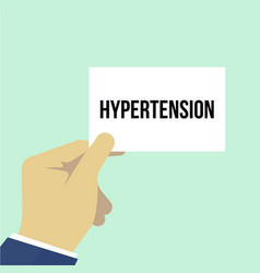man showing paper hypertension text vector image