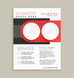 Modern business flyer and brochure design in red vector