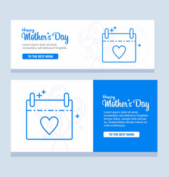 Mothers day greeting card with blossom flowers vector