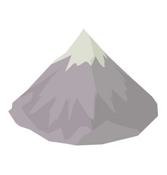 Mountain icon isometric style vector