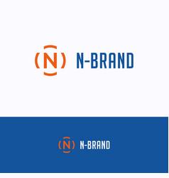 n brand logo vector image
