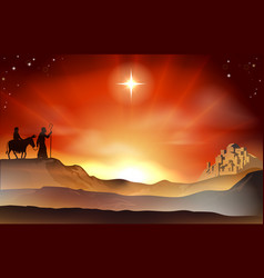 Nativity christmas story vector