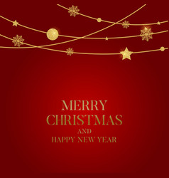 New year and merry christmas background vector