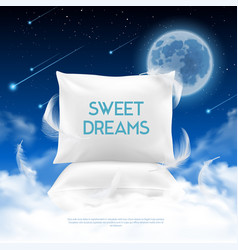night sleep realistic composition vector image