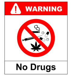 No drugs allowed no capsule marijuana cannabis vector