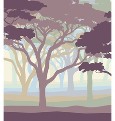 Pastel woodland vector image