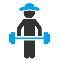 Person Power Lifting Icon vector image