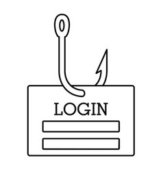 Phishing login icon outline style vector