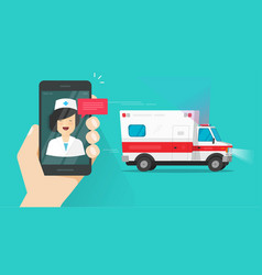 phone calling emergency doctor online near vector image