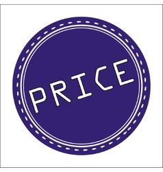 Price Icon Badge Label or Sticke vector image