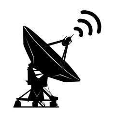 radiolocating vector image
