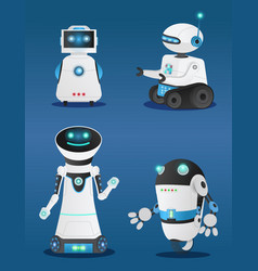 robots and innovative models humanoids set vector image