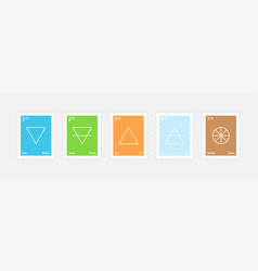 set of main elements vector image