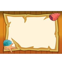Shell star fish and map vector
