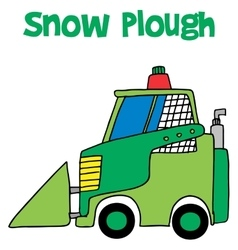Snow plough collection art vector
