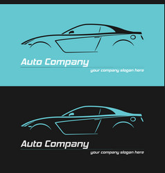 Sport car design concept automotive logo vector