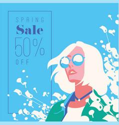 spring sale banner sale poster sale flyer 50 vector image