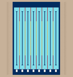 Swimming pool from top view flat design vector