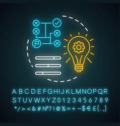 Technical skills neon light concept icon vector