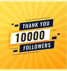 Thank you poster for 10k social media followers vector