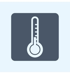 Thermometer square icon vector image
