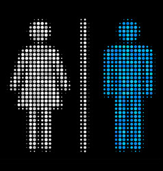 toilet persons halftone icon vector image