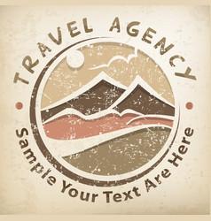 Travel logo grunge vector