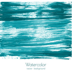 Turquoise blue mint watercolor painted texture vector