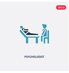 Two color psychologist icon from people concept vector