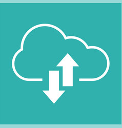 upload download icon with cloud and arrow vector image