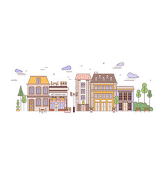 view city or town street with exquisite antique vector image