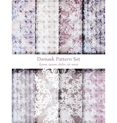 vintage grunge retro pattern set beautiful vector image