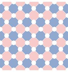 White Polka dot Chess Board Grid Rose Quartz vector image