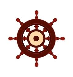 Wooden ship wheel icon vector image