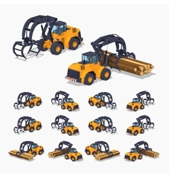 Yellow log loader vector