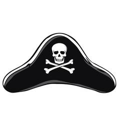 Black Pirate Hat vector image