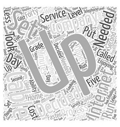 cable internet service Word Cloud Concept vector image vector image