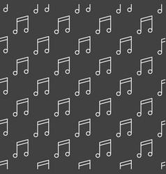 dark music seamless pattern vector image vector image