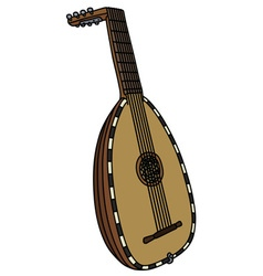 Historical wooden lute vector image vector image